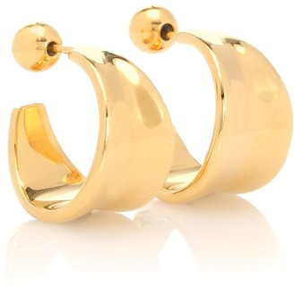 Sophie Buhai Small Wave 18kt gold-plated hoop earrings