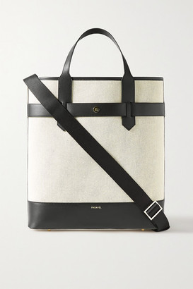Paravel Pacific Leather-trimmed Canvas Tote - Black