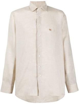 Etro Long Sleeve Embroidered Logo Shirt