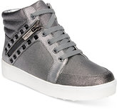 Kenneth Cole Reaction Girls' or Little Girls' Missy Zip-Up High-Top Sneakers