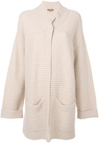 N.Peal two tone chunky cardi-coat