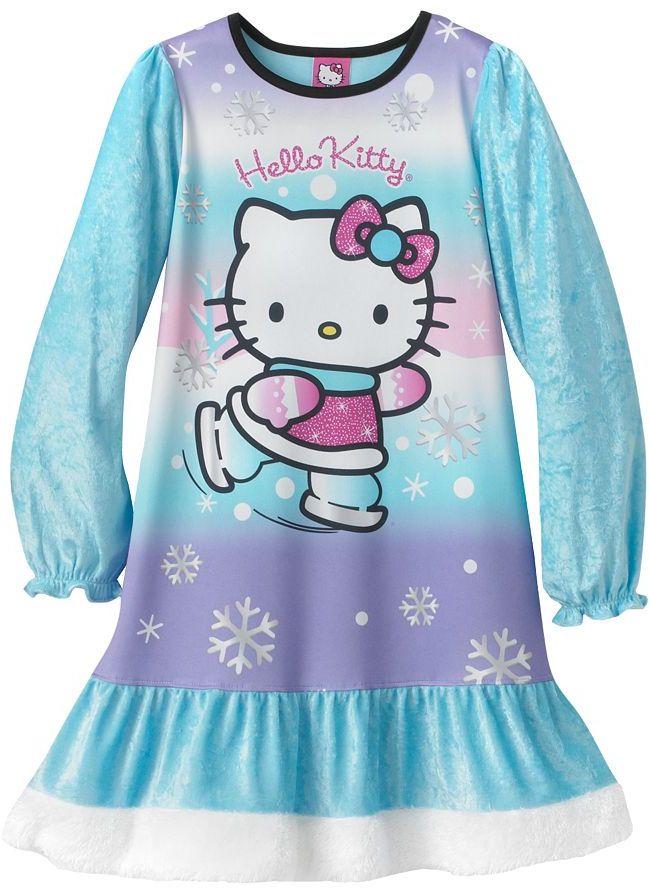 Hello Kitty ice skating nightgown - girls
