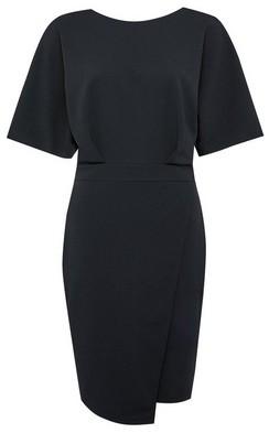 Dorothy Perkins Womens Black Kimono Sleeve Bodycon Dress, Black