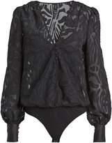 Jonathan Simkhai Night Night By Fil Coupe Long Sleeve Bodysuit