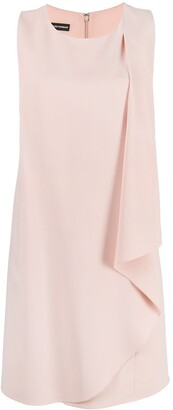 Emporio Armani Draped Asymmetric Sleeveless Dress