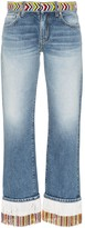 Thumbnail for your product : Alanui Fringed Beaded Boyfriend Jeans