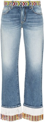 Alanui Fringed Beaded Boyfriend Jeans