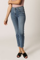 Gold Sign Semi-Fit Hi Rise Crop Jean