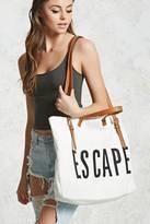 Forever 21 FOREVER 21+ Escape Canvas Travel Tote Bag