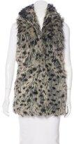 Alice + Olivia Faux Fur Printed Vest