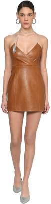 Area Embellished Leather Dress