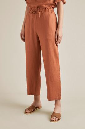 Seed Heritage Linen Tie Up Pants