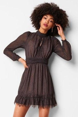 French Connenction Dayo Drape Lace Print Dress