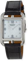 Hermes Cape Cod GM Watch with Diamonds & Black Alligator Strap
