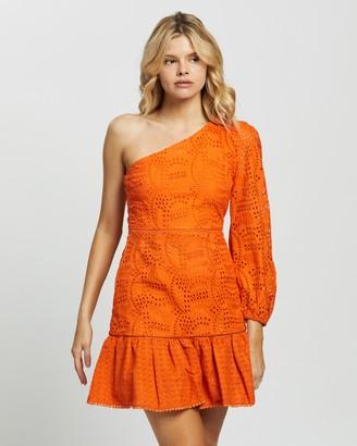 Glamorous One Shoulder Long Sleeve Mini Dress