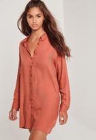 Missguided Oversized Shirt Dress Pink