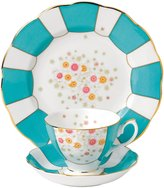 "Royal Albert 100 Years 1930 Teacup, Saucer & Plate Set - Polka Rose - 8"" - 3 pc"