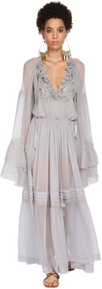 Etro Silk Muslin Long Dress