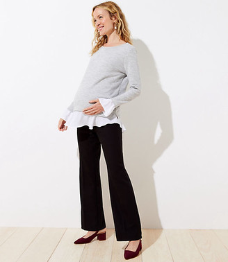 LOFT Petite Maternity Trousers in Doubleweave