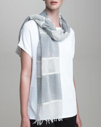 Giorgio Armani Shimmer-Striped Stole