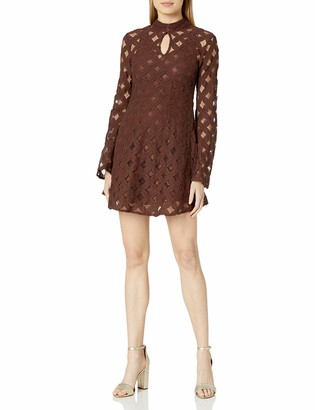 Somedays Lovin Women's Crimson Hearts Printed Lace Dress