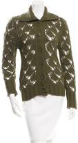 Dolce & Gabbana Angora-Blend Open Knit Cardigan