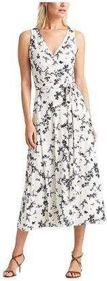Lauren Ralph Lauren Carana Dress (Colonial Cream/Blue/Multi) Women's Dress