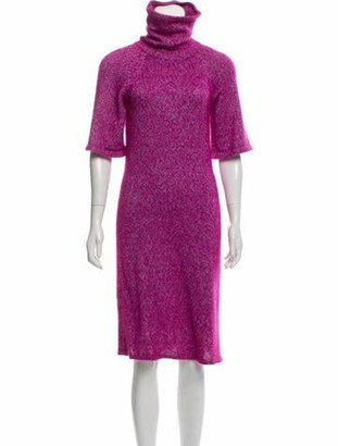 Chanel Silk & Mohair Midi Dress Pink