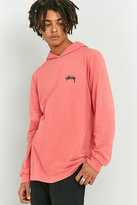 Stussy Original Stock Pink Hooded Long-sleeve T-shirt