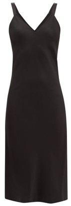 Haider Ackermann V-neckline Satin-crepe Midi Dress - Black