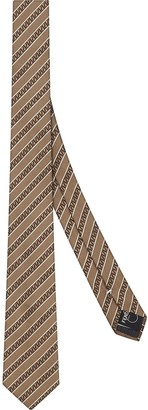 Fendi FF stripe pattern necktie