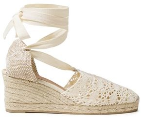 Castaner Crocheted Cotton-blend Wedge Espadrilles