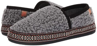 Acorn Woven Trim Moc (Stormy Grey) Women's Slippers