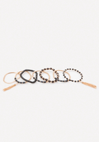 Bebe Black & Gold Bracelet Set