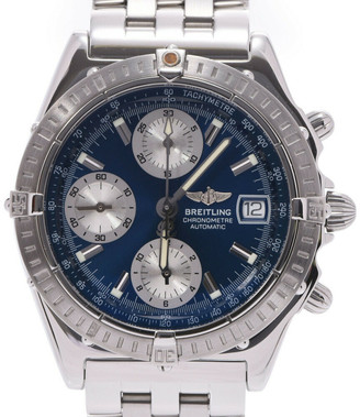 Breitling Blue Stainless Steel Chronomat A13352 Men's Wristwatch 39 MM