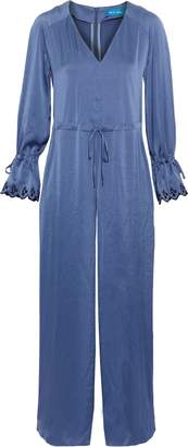 MiH Jeans Moon All In One Embroidered Washed-satin Jumpsuit