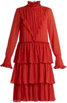 See by Chloe Tiered ruffle-trimmed crepe dress