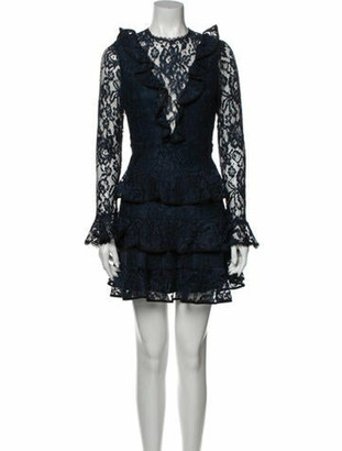 Alexis Lace Pattern Mini Dress w/ Tags Blue