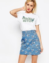 House of Holland Prickly Bitch T-Shirt