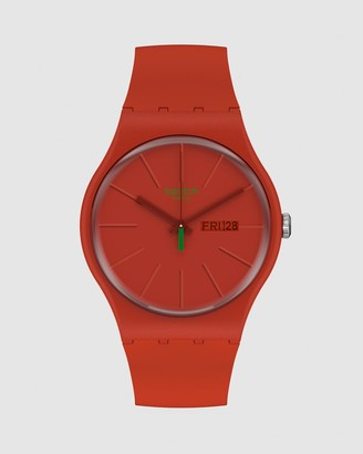 Swatch Men's Red Analogue - REDVREMYA - Size One Size at The Iconic