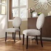 Inspire Q Paulina Grey Link Round Back Dining Chair (Set of 2)