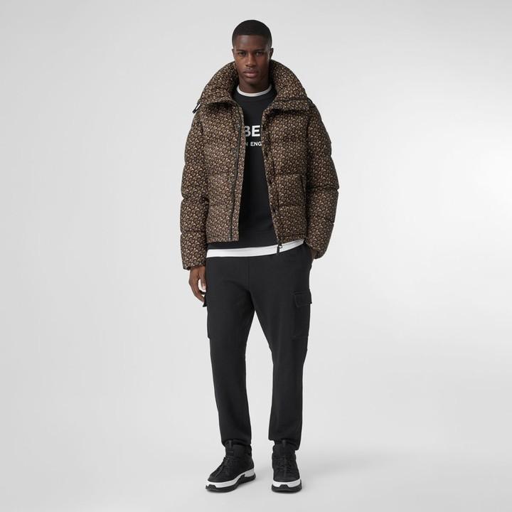 Burberry Detachable Sleeve onogra Print Puffer Jacket