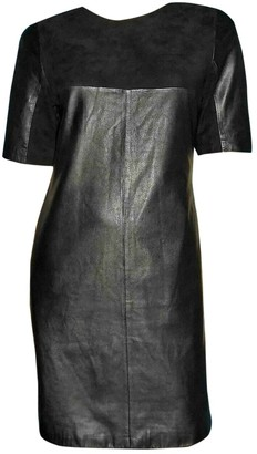 Bel Air Black Leather Dress for Women