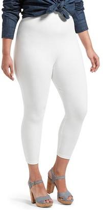 Hue Plus Size Black Out Capri Leggings