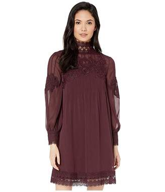 Ted Baker Anneah High Neck Lace Long Sleeve Tunic