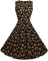 ACEVOG Women's Rockabillty Sleeveless Swing Vintage Dress For Party Cocktail