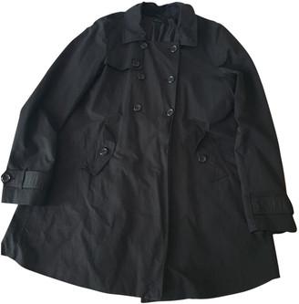 Benetton Black Synthetic Trench coats