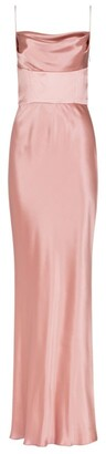 Dolce & Gabbana Silk Satin Cowl-Neck Gown