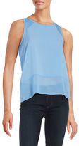 French Connection Sheer Detail Tank Top
