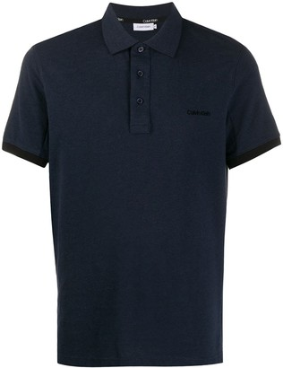 Calvin Klein Logo Embroidered Polo Shirt